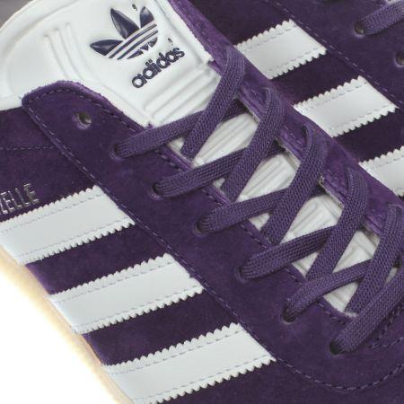 Mens Purple Adidas Gazelle Trainers