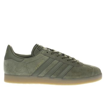 Adidas Olive Cargo Gazelle Mens Trainers