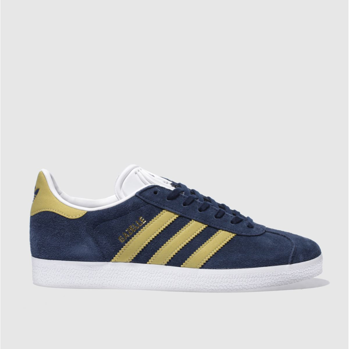 Adidas Navy & Gold Gazelle Trainers