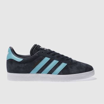 Adidas Navy & Turquoise Gazelle Mens Trainers