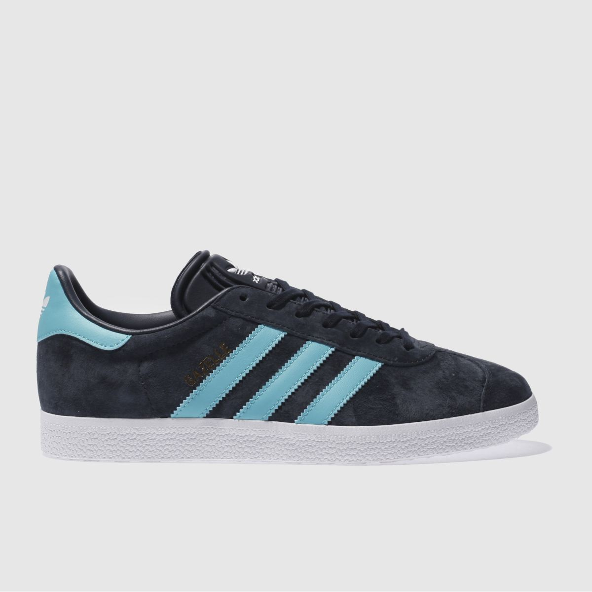 Adidas Navy & Turquoise Gazelle Trainers