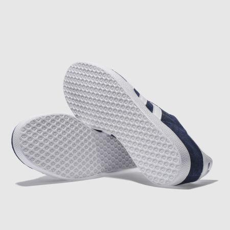 pxfhr Mens Navy & White Adidas Gazelle Trainers | schuh