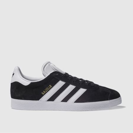 Adidas Black & White Gazelle Trainers
