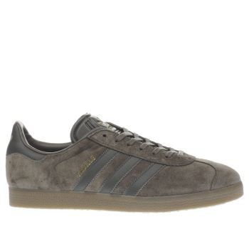 Adidas Utility Grey Gazelle Mens Trainers