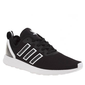 Adidas Black & White Zx Flux Adv Mens Trainers
