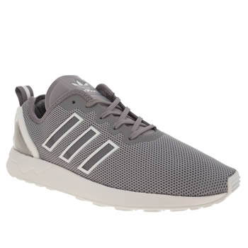 Adidas Grey Zx Flux Adv Mens Trainers