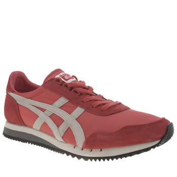 Mens Onitsuka Tiger Red Dualio Trainers