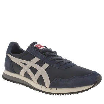 Mens Onitsuka Tiger Navy & White Dualio Trainers