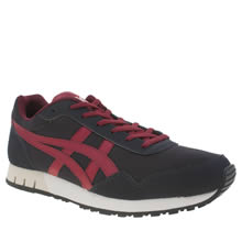 Asics Navy & Red Curreo Mens Trainers