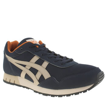 Mens Asics Navy & Stone Curreo Trainers