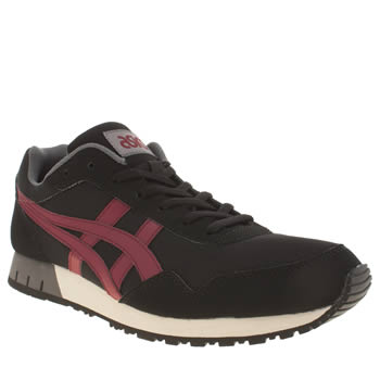 Mens Asics Black & Red Curreo Trainers