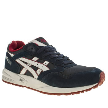 Mens Asics Navy & White Gel Saga Trainers