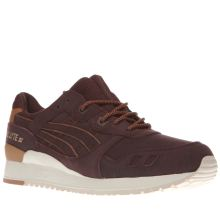 Asics Burgundy Gel-lyte Iii Mens Trainers