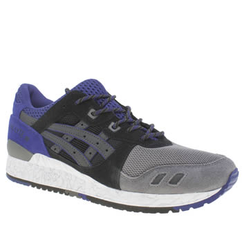 Mens Asics Black and blue Gel-lyte Iii Trainers