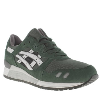 Mens Asics Dark Green Gel-lyte Iii Trainers