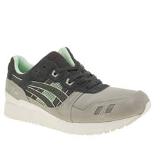 Asics Grey & Navy Gel-lyte Iii Mens Trainers