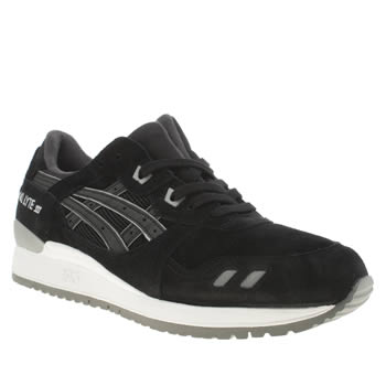 Mens Asics Black Gel-lyte Iii Trainers