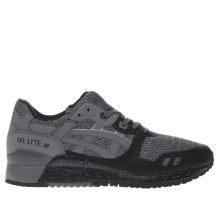 Asics Black & Grey Gel-lyte Iii Ns Mens Trainers