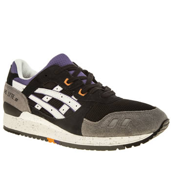Mens Asics Black & White Tiger Gel-lyte Iii Trainers