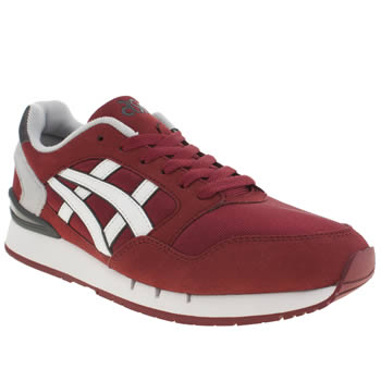 Mens Asics Burgundy Gel Atlanis Trainers
