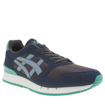 Mens Asics Navy & Pl Blue Gel Atlantis Trainers