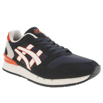 Mens Asics Navy & White Gel Atlanis Trainers