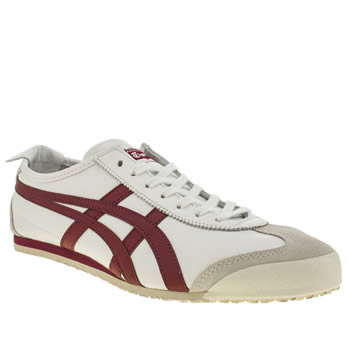 Mens Onitsuka Tiger White & Red Mexico 66 Trainers