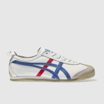 Mens Onitsuka Tiger White & Blue Mexico 66 Trainers