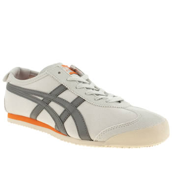 Mens Onitsuka Tiger Light Grey Tiger Mexico 66 Trainers