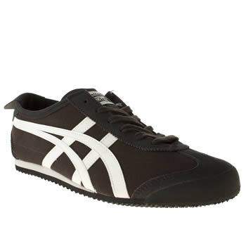 mens onitsuka tiger dark grey mexico 66 trainers