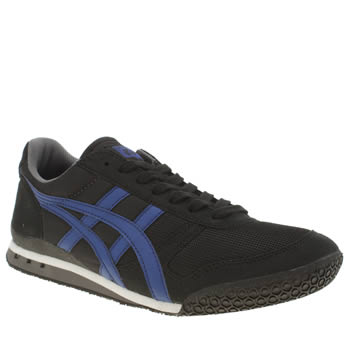Mens Onitsuka Tiger Black and blue Ultimate 81 Trainers