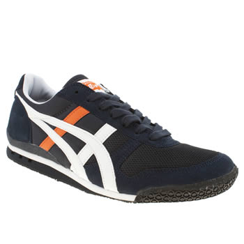 mens onitsuka tiger navy & white ultimate 81 trainers