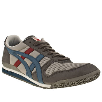 mens onitsuka tiger grey ultimate 81 trainers