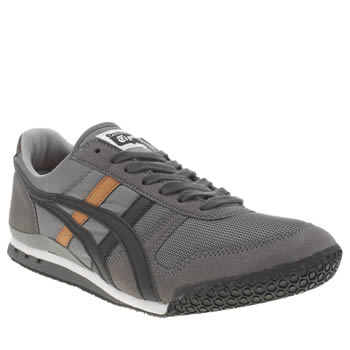 Onitsuka Tiger Grey & Black Ultimate 81 Trainers