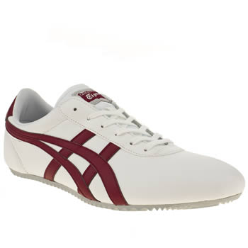 mens onitsuka tiger white & red tai chi trainers