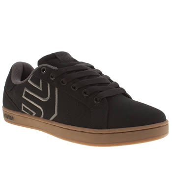 Mens Etnies Black Fader Ls Trainers