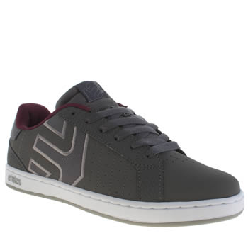 Mens Etnies Dark Grey Fader Ls Trainers