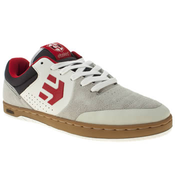 mens etnies white & red marana trainers