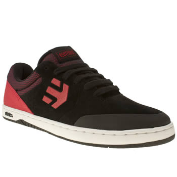 mens etnies black & red marana trainers