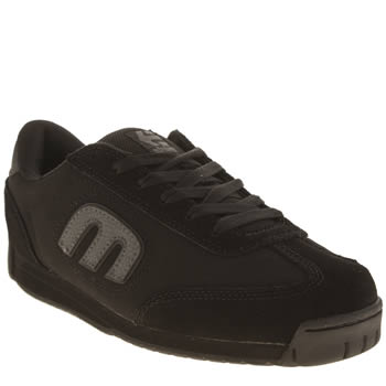 Mens Etnies Black Lo Cut Ls Trainers