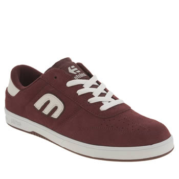 Etnies Burgundy Lo Cut Trainers