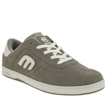 Mens Etnies Light Grey Lo Cut Trainers