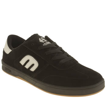 Mens Etnies Black Lo Cut Trainers
