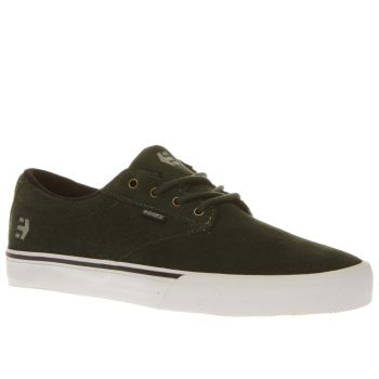 Etnies Dark Green Jameson Vulc Trainers