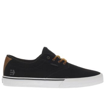 Etnies Black & Brown Jameson Vulc Trainers