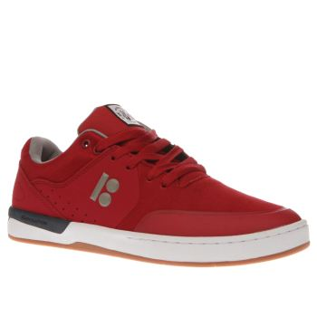 ETNIES RED MARANA XT TRAINERS