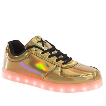 Wize & Ope Gold Pop Led Trainers