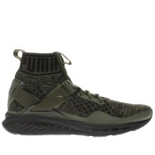 Puma Khaki Ignite 3 Evoknit Mens Trainers
