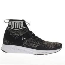 Puma Black & Grey Ignite 3 Evoknit Mens Trainers