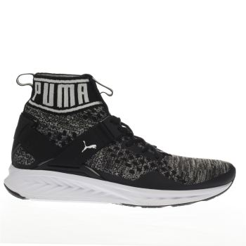 Puma Black Ignite 3 Evoknit Mens Trainers